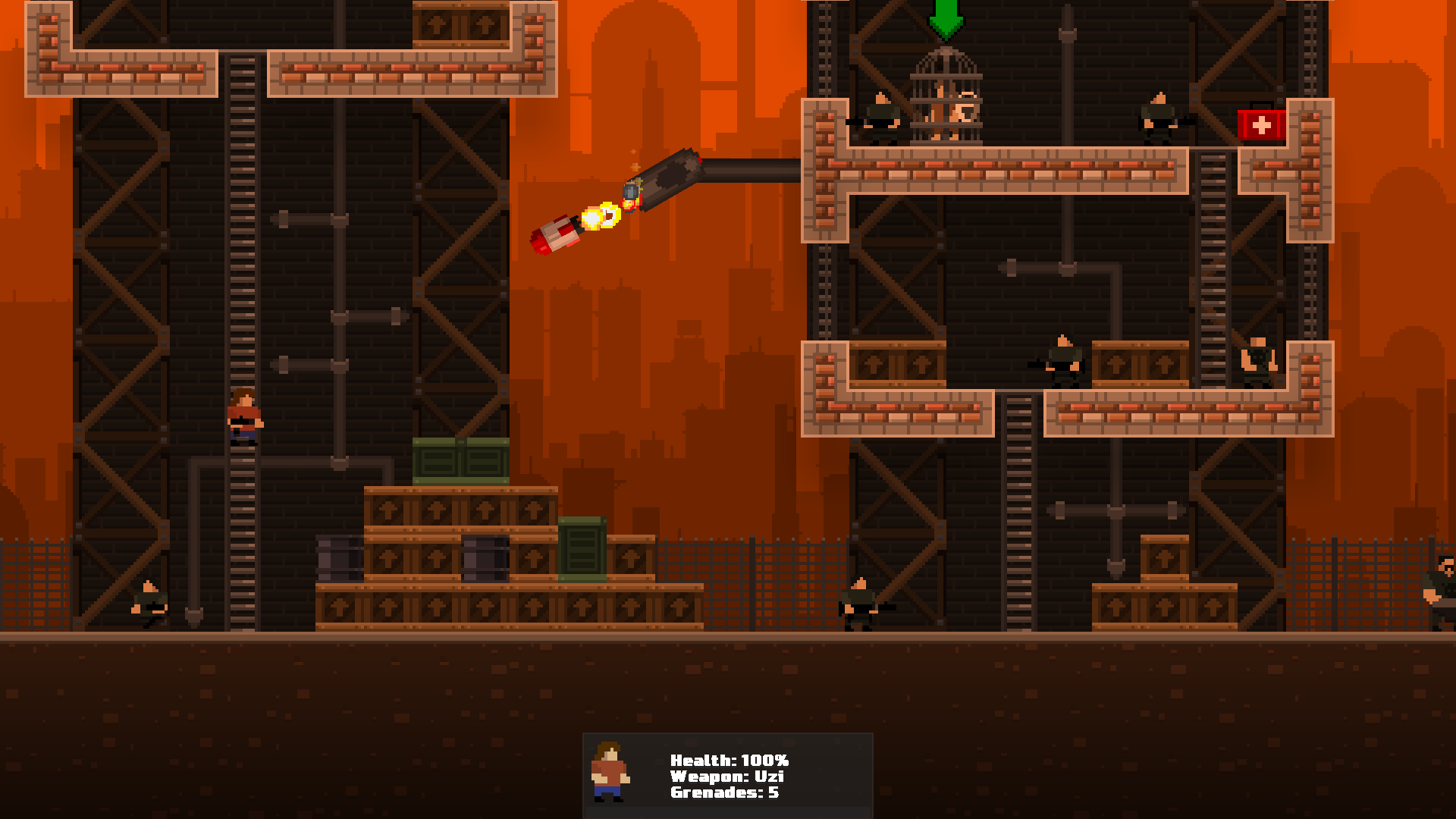 Awesome prison level with rockets.